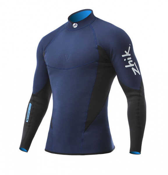 Zhik Microfleece V Neoprene Top Navy