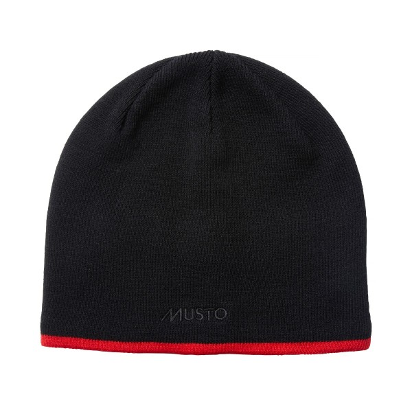 Musto Knitted Beanie Hat Black 81223