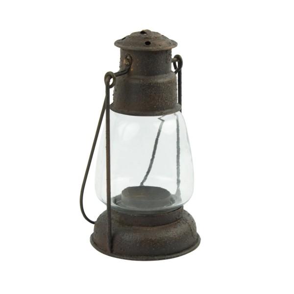 Hurricane Tea Light Lamp Rust Finish