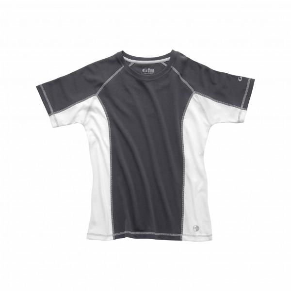 Gill Women's UV Tec Crew Neck T Shirt Ash/White Size 10