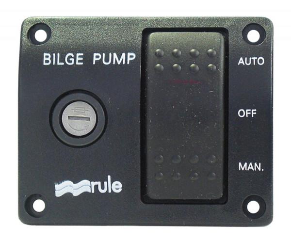 Rule 3 Way Lighted Rocker Switch Bilge Pump