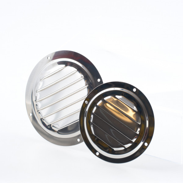 Louvered Vent Round Stainless Steel