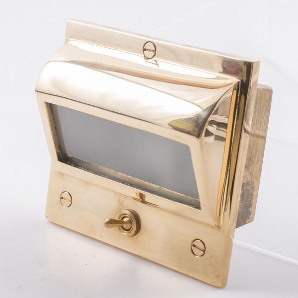 Davey and Co. Berth Light Recessed Brass