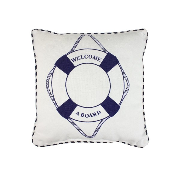 Welcome Aboard Lifering Cushion