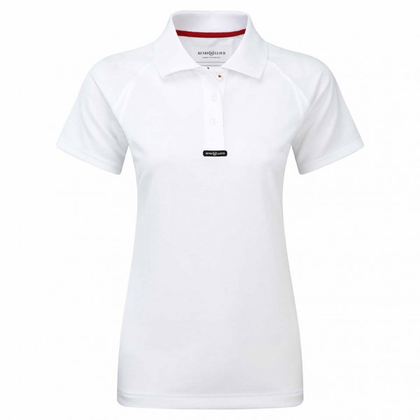 Henri Lloyd Womens Fast-Dri Polo Shirt Optic White