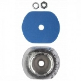 MGDUFF ZD58KIT Zinc Disc Hull Anode 2.2kg Backing Pad, Nut & Washer