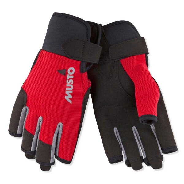 Musto Essential Sailing Short Finger Glove True Red 80102