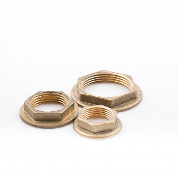 Nuts - Back, Brass, Flanged