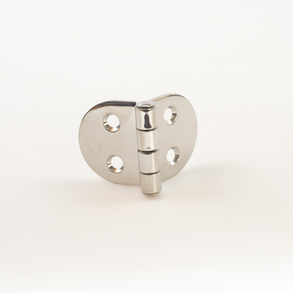 Flat Round Sided Hinge 35 x 38.5mm