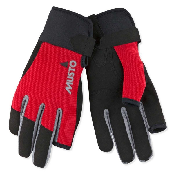 Musto Essential Sailing Long Finger Glove True Red 80101