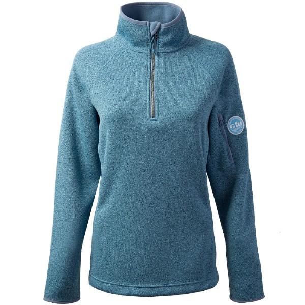 Gill Women's Knit Fleece Blue Melange Size 16 LAST ONE