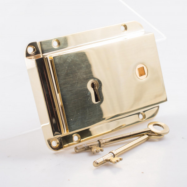 Davey and Co. Rim Lock Cast Brass