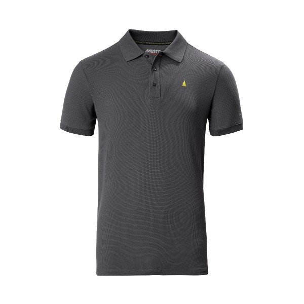 Musto Evolution Pro Lite Short Sleeve Polo Shirt Charcoal