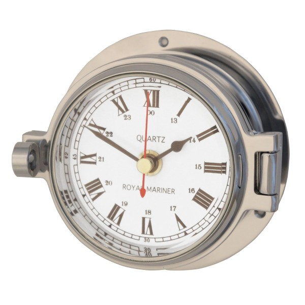 Royal Mariner Channel Clock Polished Chrome