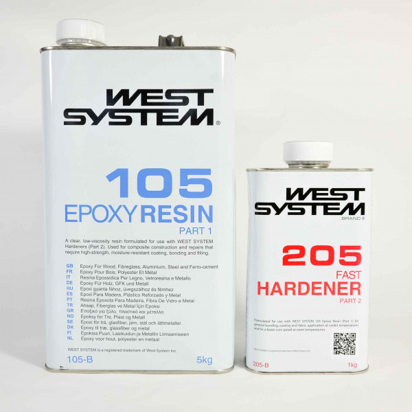 West System Epoxy B Pack 105 Resin and 206B Slow Hardener 6kg