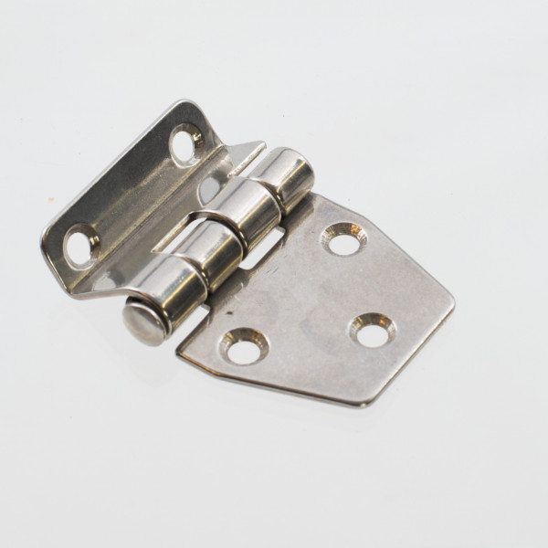 Hinge Stainless Steel Flat Cranked