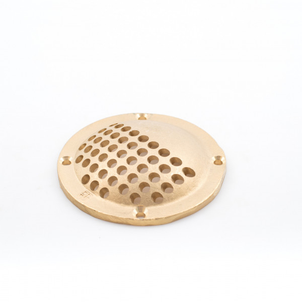 Strainer - Grating Brass, Round, 100mm, Full
