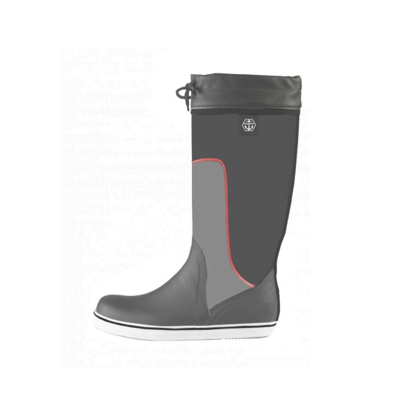 Maindeck Tall Rubber Sailing Boot Grey