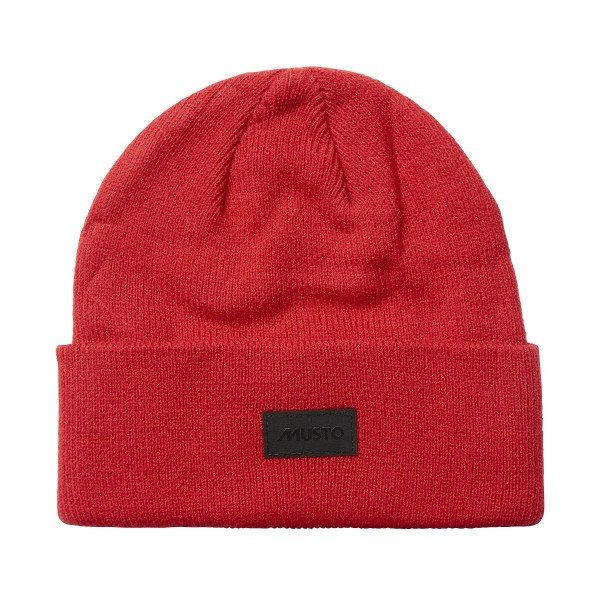 Musto Shaker Cuff Beanie Hat True Red 86015
