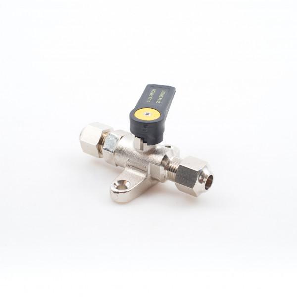 Mini Gas or Diesel Ball Valve Nickel Plated Brass