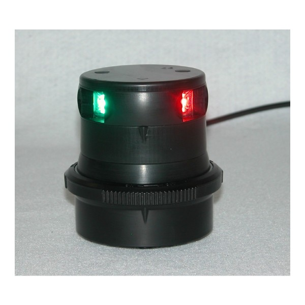 Aqua Signal Series 34 Tricolour LED Navigation Light Black Housing