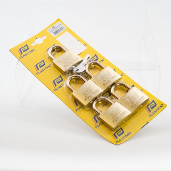 Padlocks 40mm Set of 5