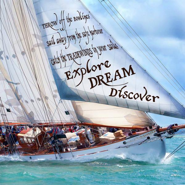 Canvas Print - Explore ,Dream, Discover