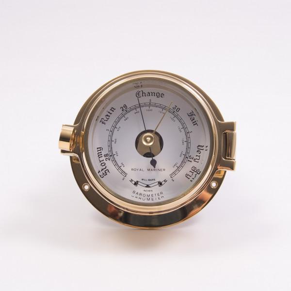 Royal Mariner Channel Barometer Brass