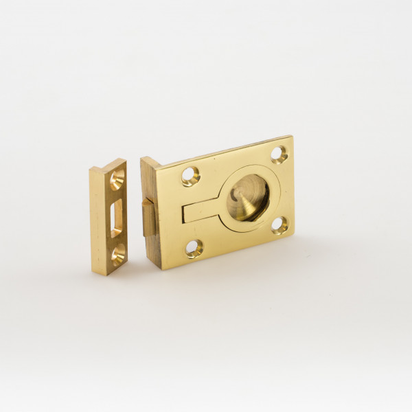 """Davey and Co. Flush Ring Brass with Catch 2"""" x 1 1/2"""""""