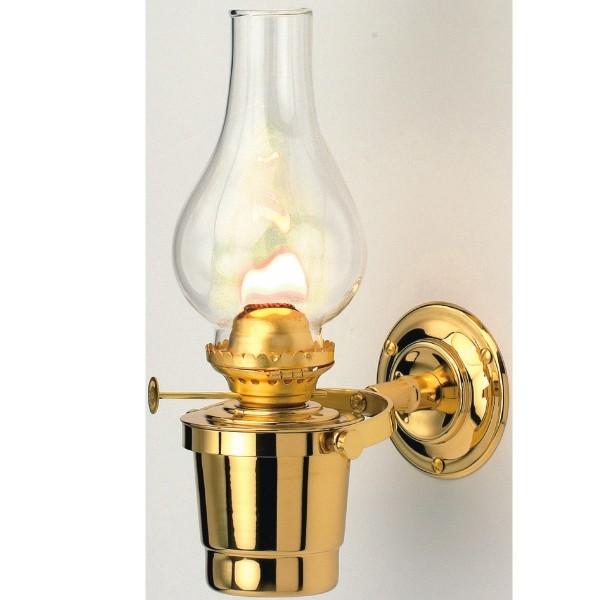 Gipsy Moth Gimballed Oil Lamp Brass 25cm