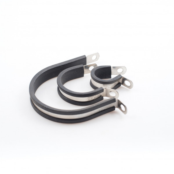 P-Clips Rubber Lined Stainless Steel