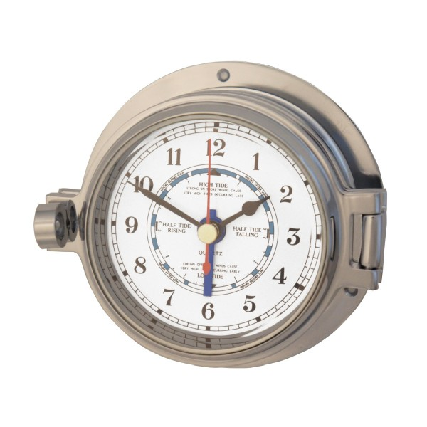 Royal Mariner Channel Tide Clock Polished Chrome