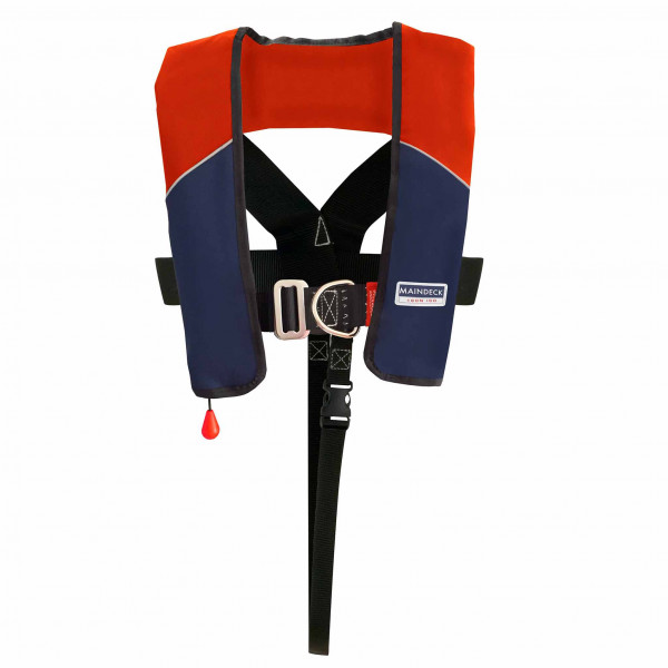 Maindeck Lifejacket ISO 180N UML Auto Harness Red/Navy