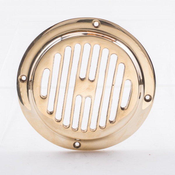 Davey and Co. Vent Round Grill Brass