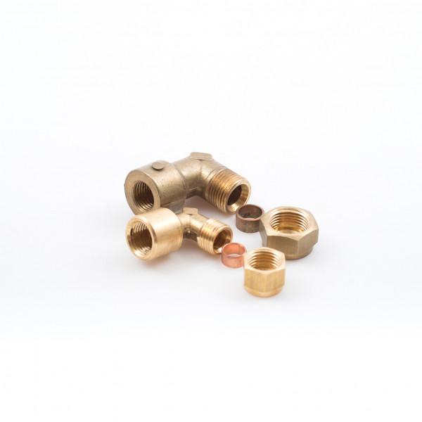 Elbows Pipe Female Stud Brass BSP