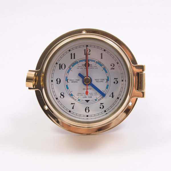 Channel Tide Clock Brass
