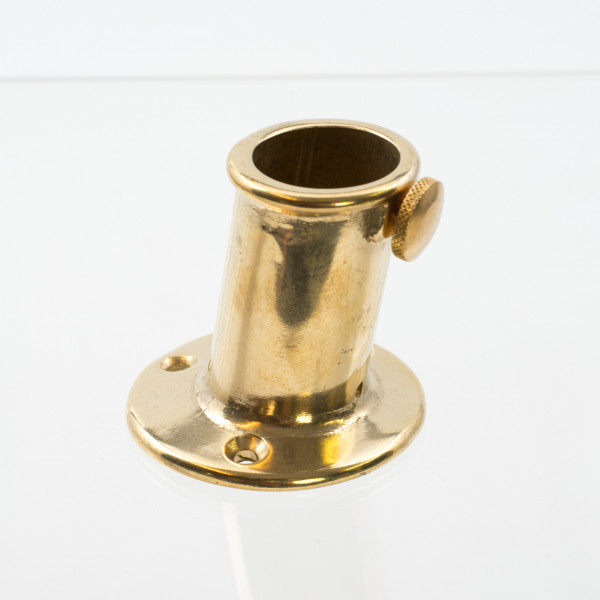 Flag Staff Socket Brass, 25mm, Inclined