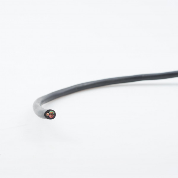 Cable 3 core, round, thin wall